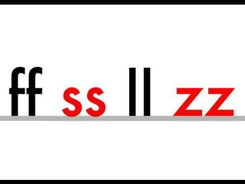 5 letter words with double letters ss ll zz ff phonics letters phonic songs 16320