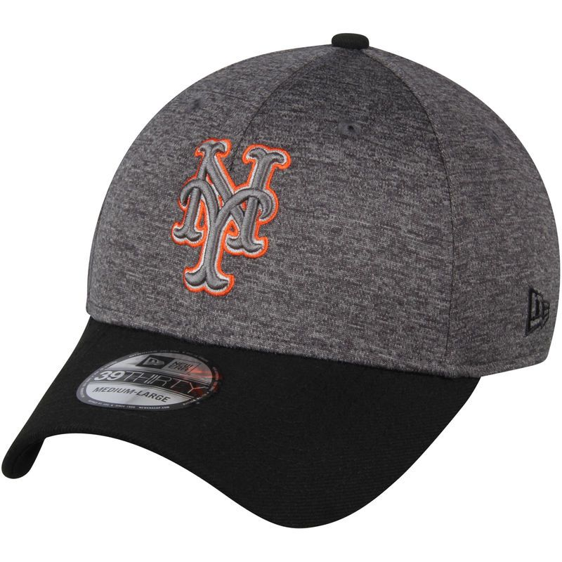 New York Mets New Era 39THIRTY Shadow Tech Color Pop Flex Hat - Heathered  Gray  f5d2c7c669a