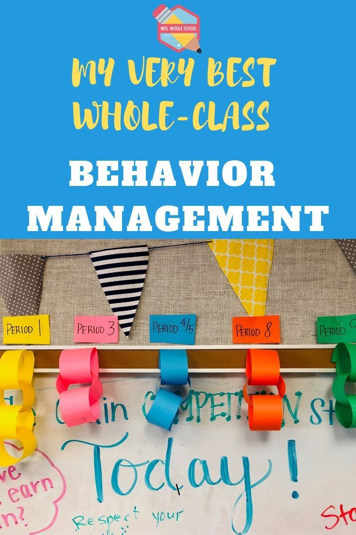 This is my very best whole-class behavior management system for the middle school classroom! | Beha
