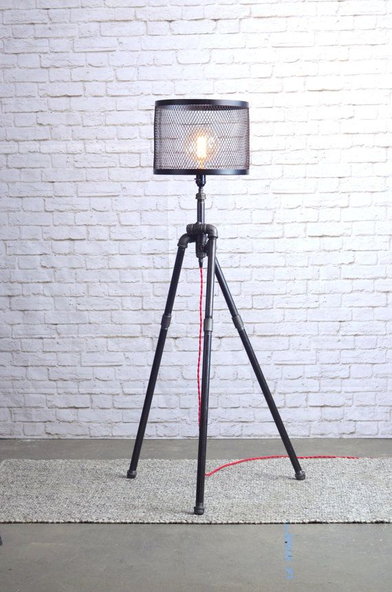 This Tripod Floor Lamp Is Unique In That It Is Made Exclusively From Heavy  Duty Black