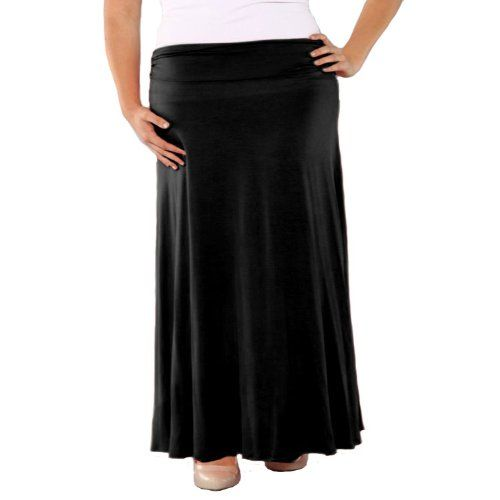 d5ed0cd85a7e5 Save  29.01 on Popana Comfortable and Versatile Plus-Size Maxi-Skirt - Made  in USA  only  19.99
