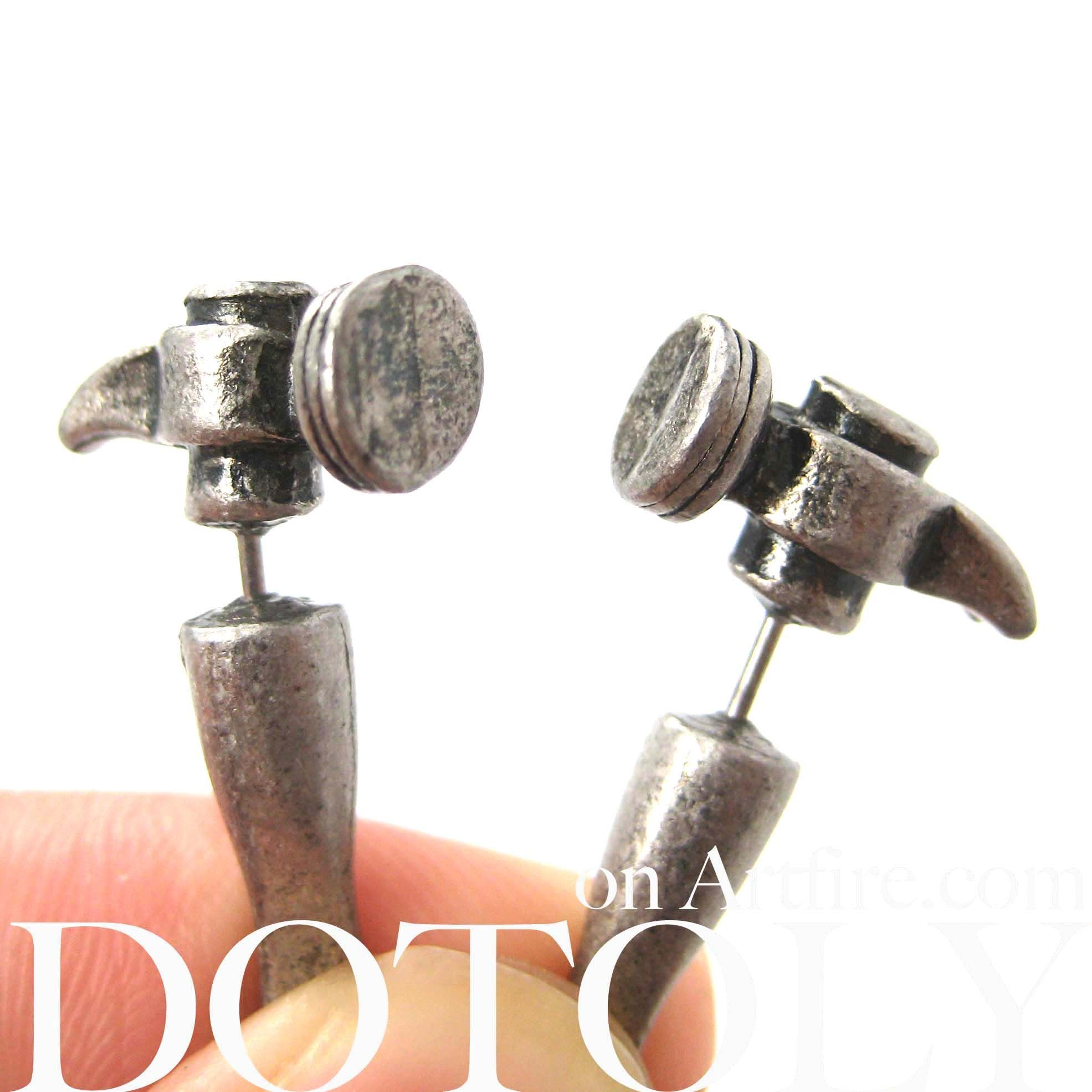 68135c7ad Details - Sizing - Shipping Looking for a pair of unique fake gauge earrings?  These earrings are great for both men and women, they are made in the shape  of ...