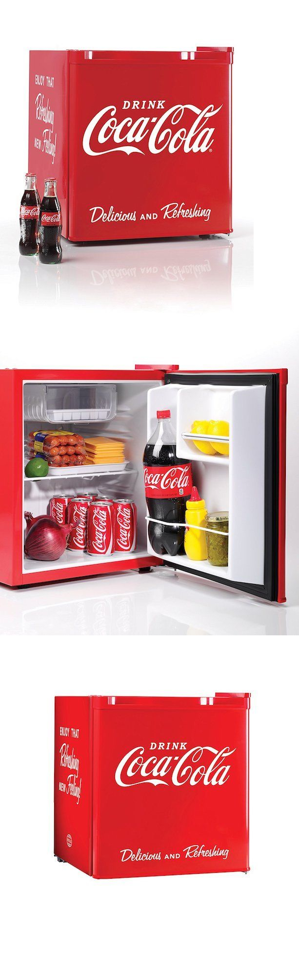 Mini Fridges 71262: College Dorm Room Accessories Coca Cola Mini Fridge  Small Refrigerator Freezer   Part 71