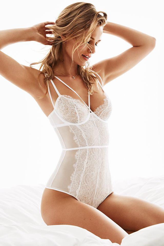 c11a0bf9c5 Say yes in bridal lingerie in classic white