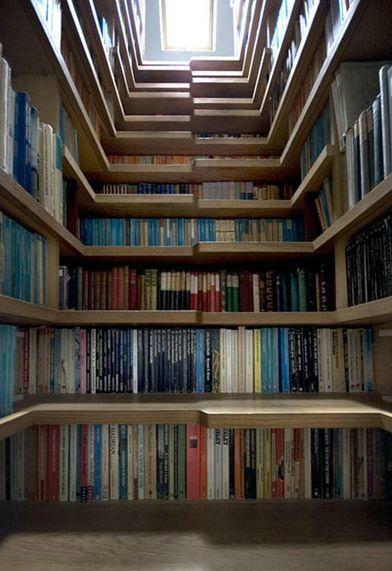 bookshelf + staircase = stairshelf