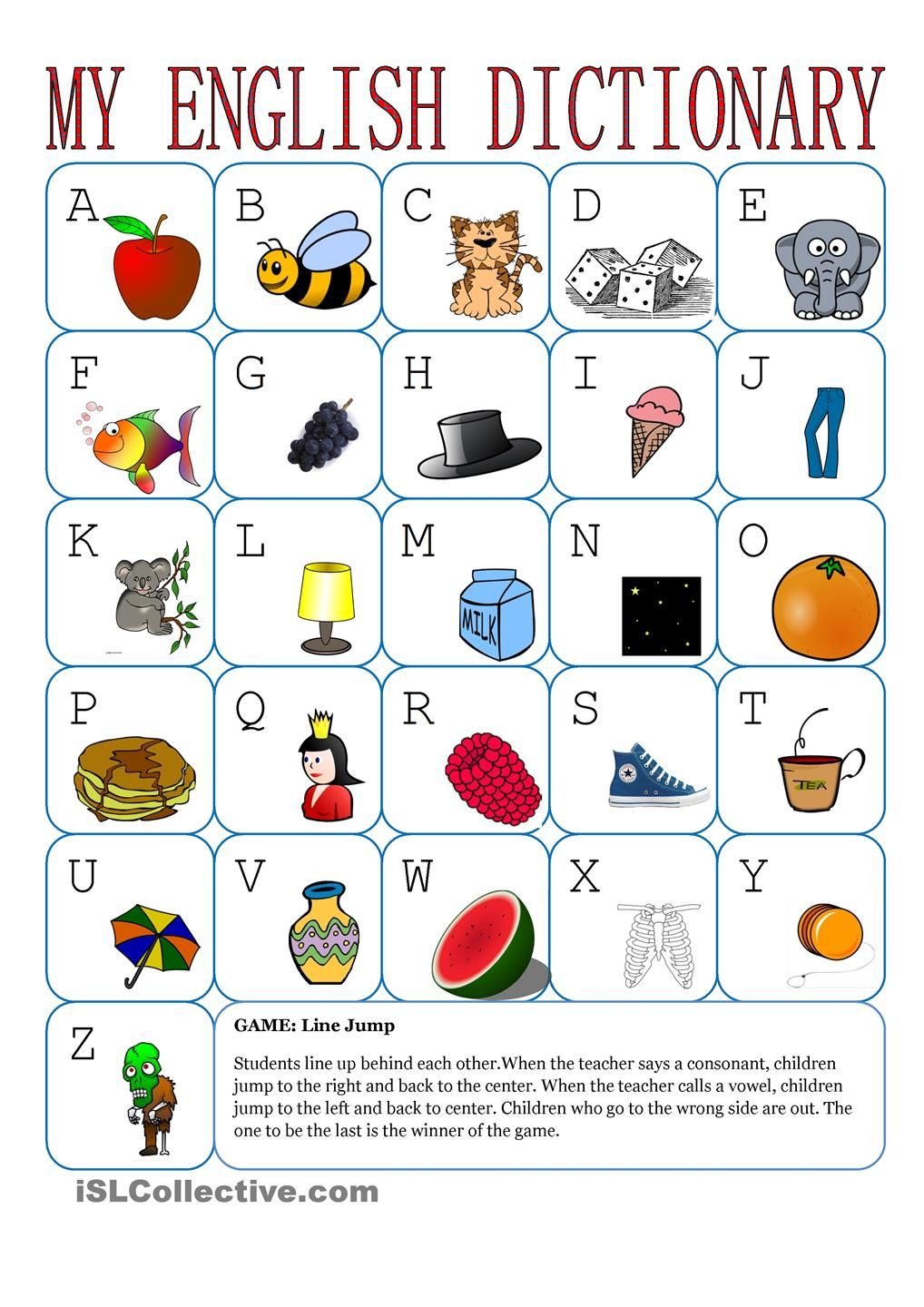 My English Alphabet ESL BEGINNERS ACTIVITIES – Beginner Esl Worksheets