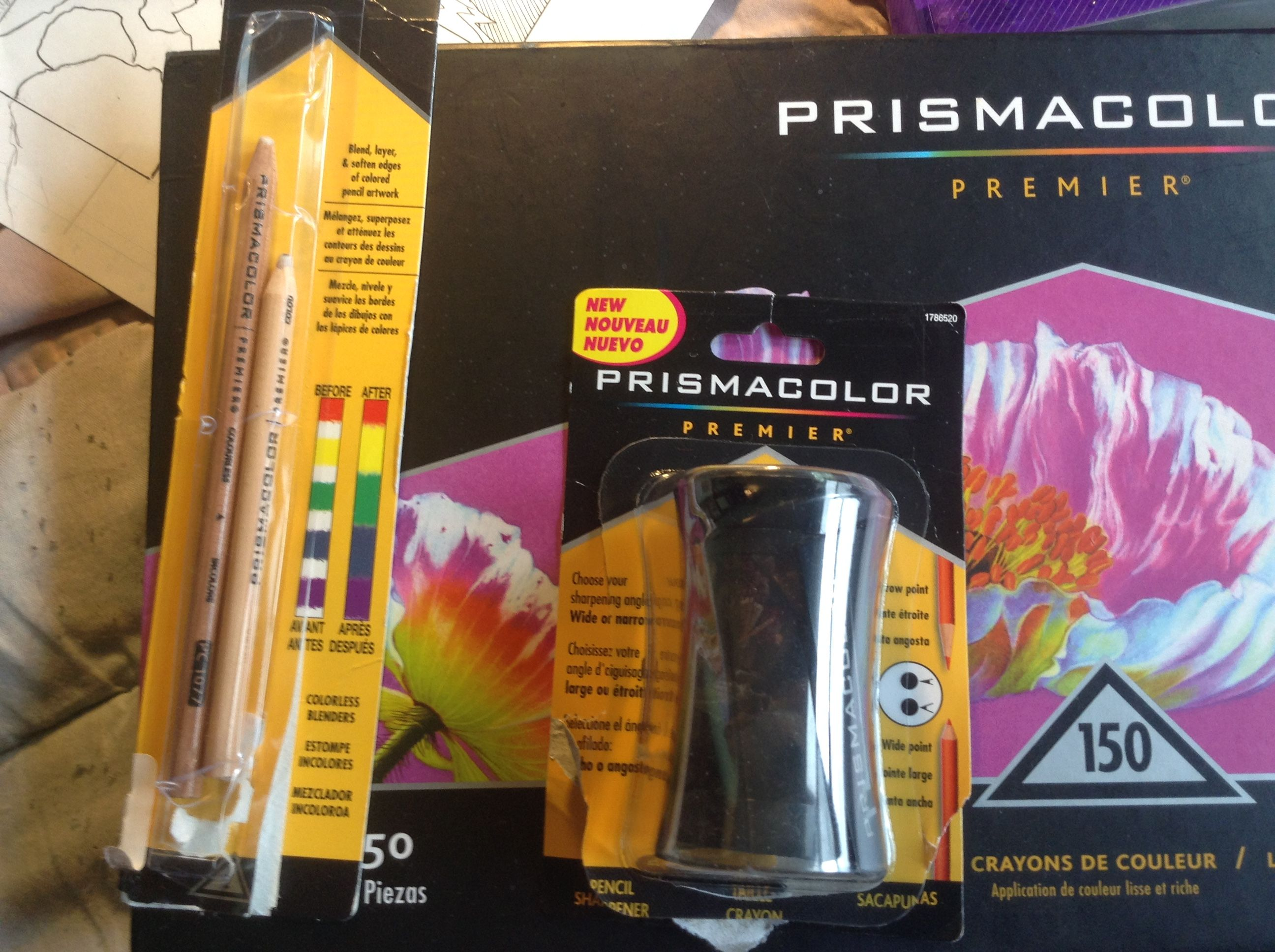 My prismacolor blender pencils and sharpener prismacolor