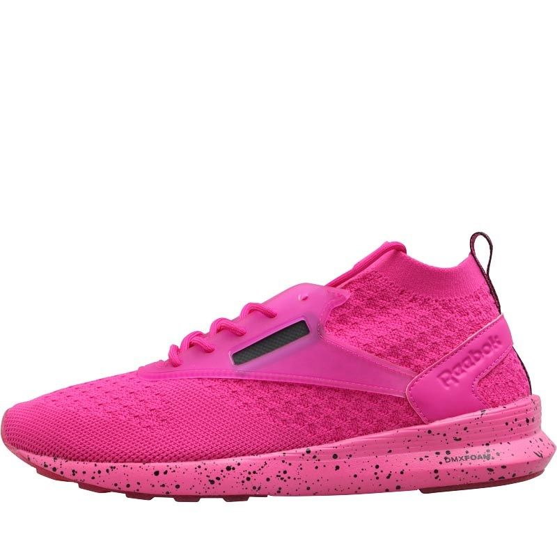 f0df7f00f89 Reebok Classics Womens Zoku Runner Ultraknit IS Trainers Solar  Magenta Black White