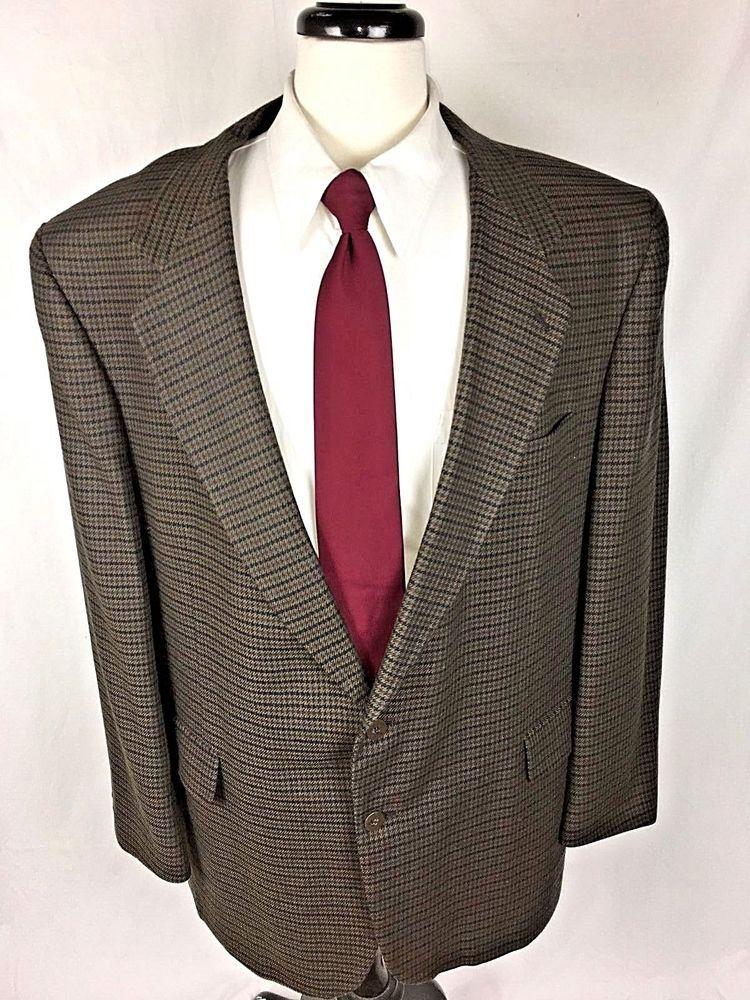 KUPPENHEIMER Blazer 50 Brown Wool Single Vent Sport Coat