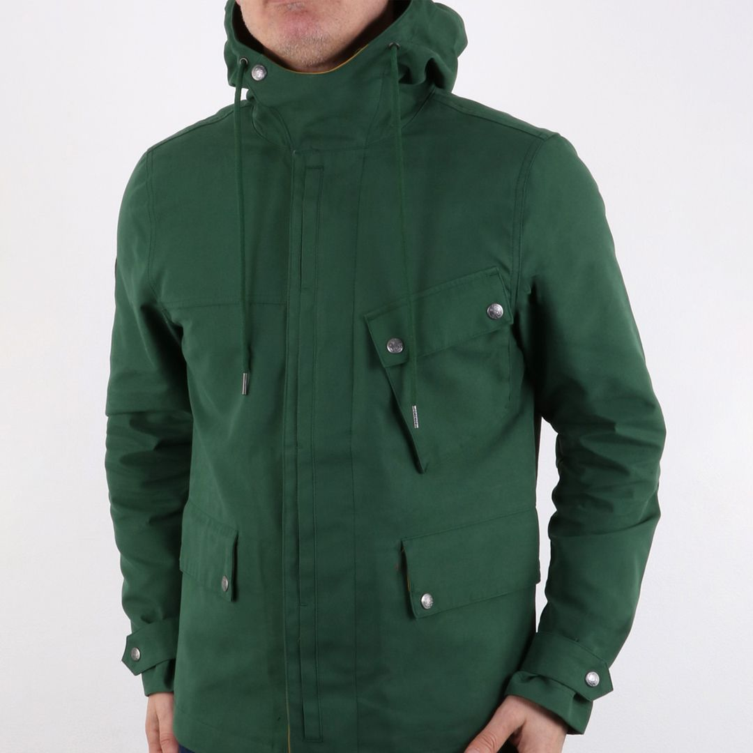 Pretty Green Mens Contrast Colour Hooded Jacket Green in