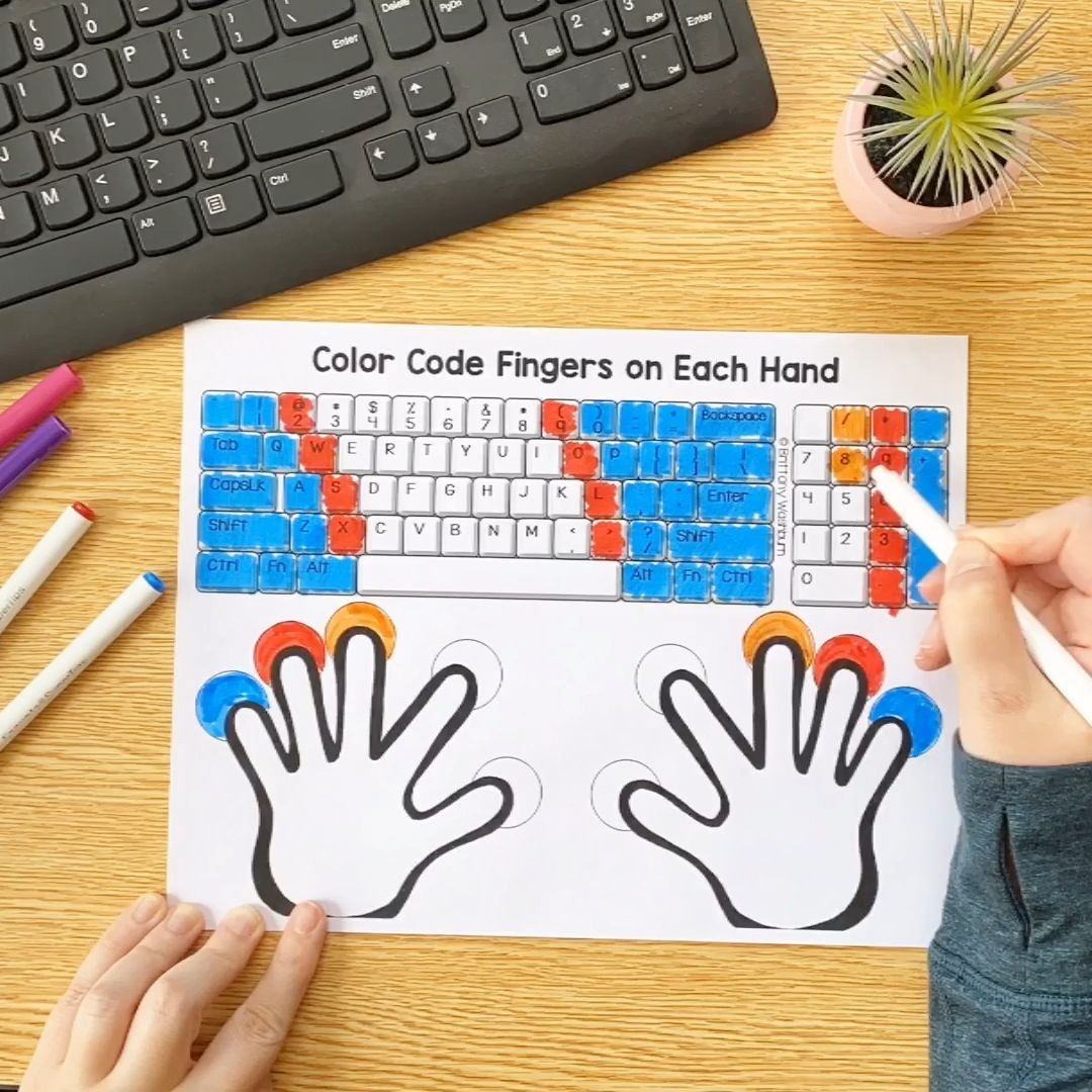 Elementary technology activities both printable and digital available for distance learning. Get this keyboard printable now.
