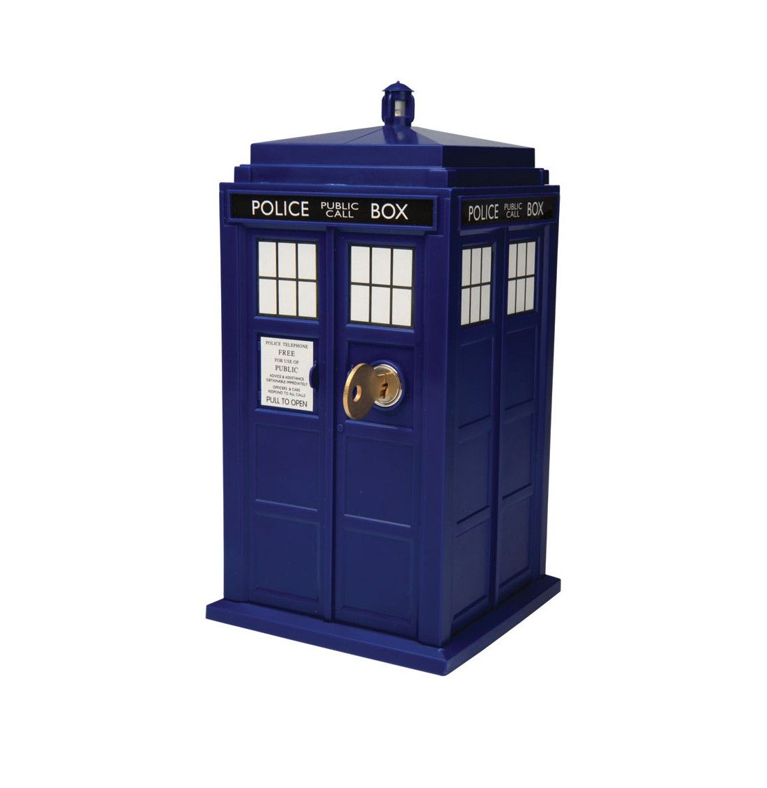 DOCTOR WHO ELECTRONIC TARDIS SAFE OFFICIAL BBC MONEY BOX DR POLICE TELEPHONE