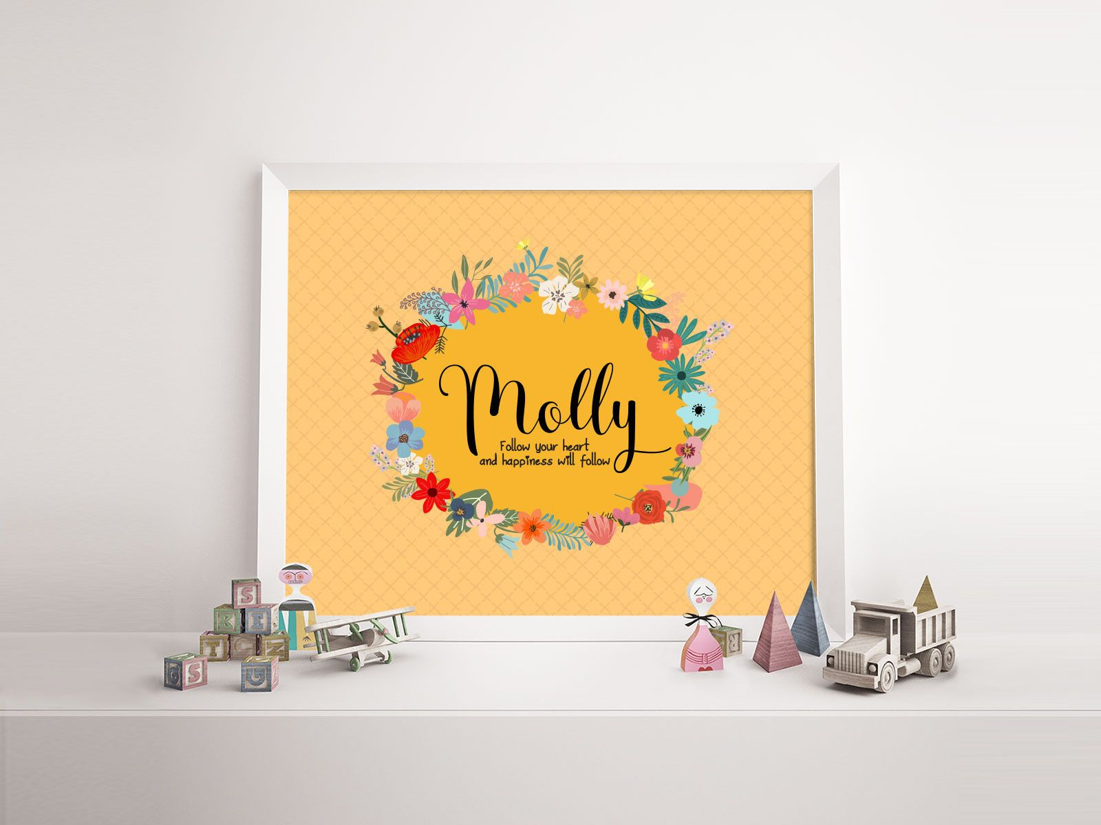 Baby name print \'Molly\' - nursery poster print wall art | Nursery ...