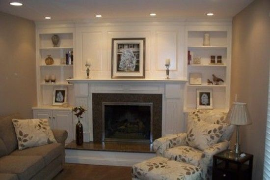 fireplace shelving designs ideas 5