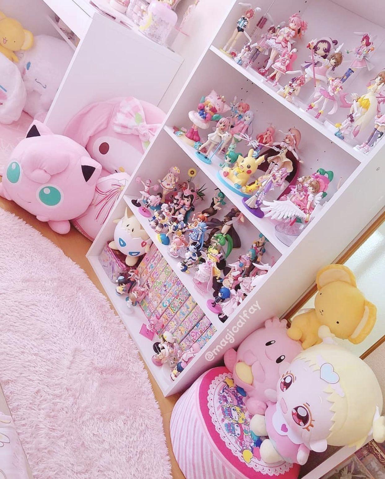 Kawaii room with pink things anime otaku room kawaii