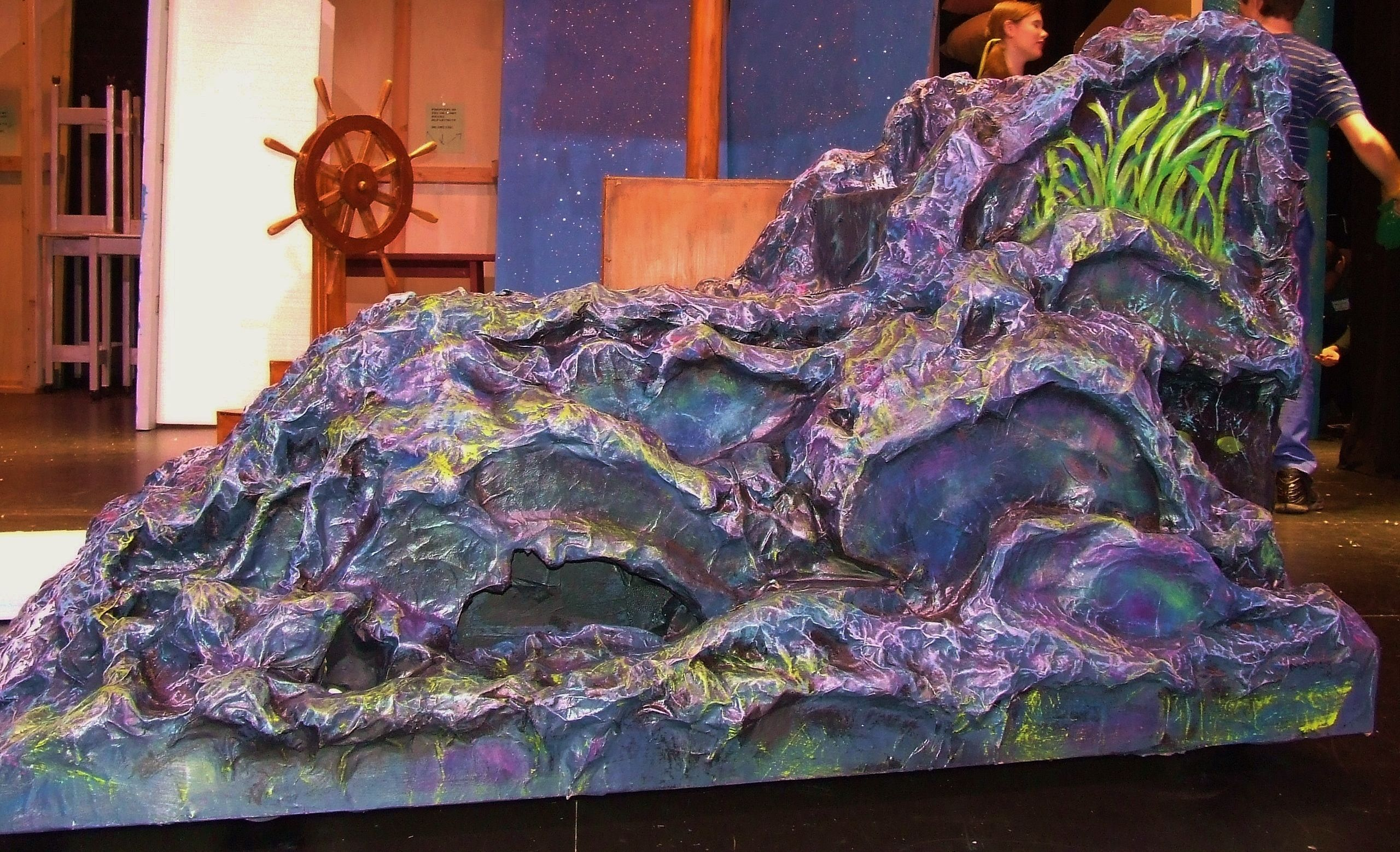 2 sided paper mache little mermaid rock ursula 39 s side www for Papier mache rocks