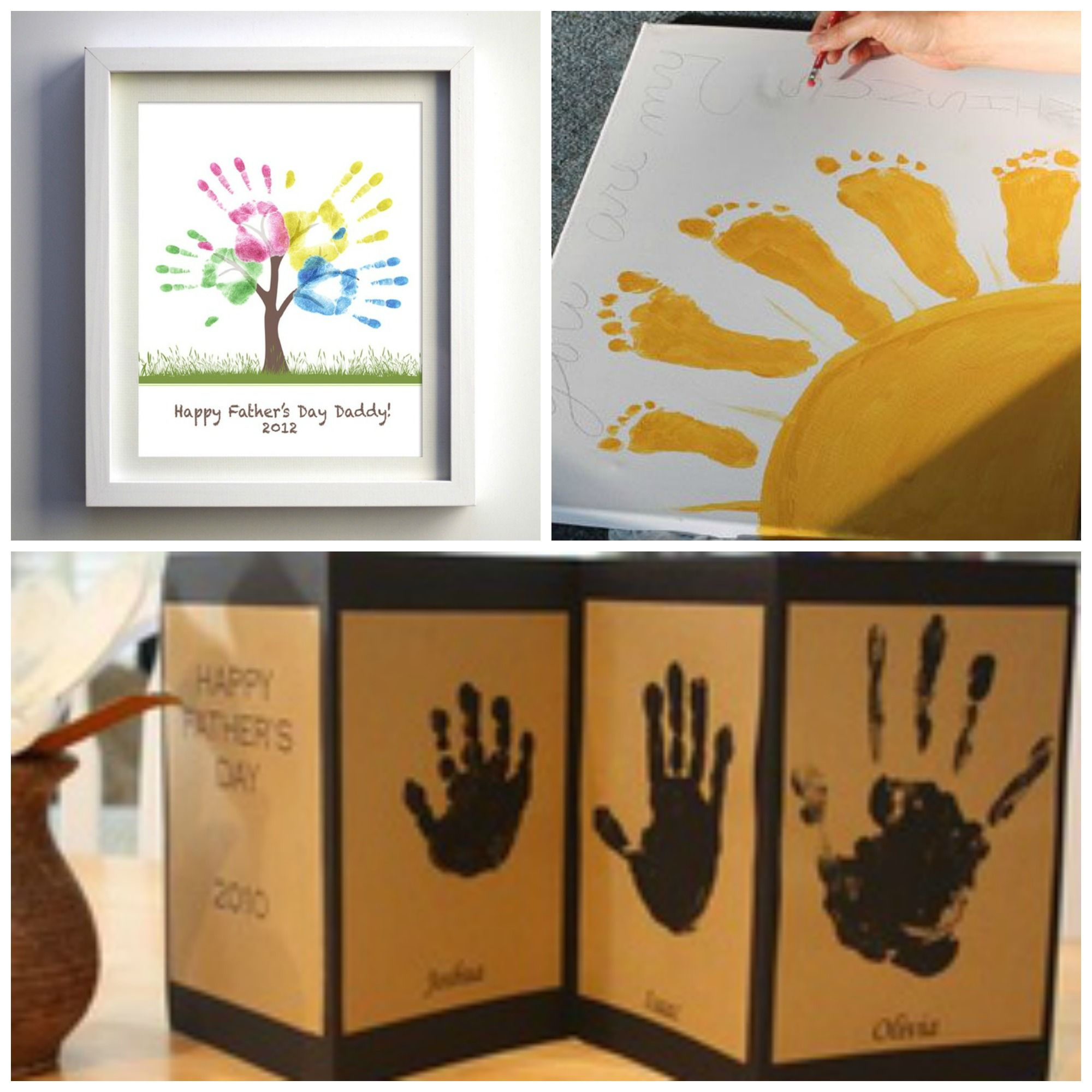 Ideas originales para el dia del padre manos pintadas for Ideas originales para decorar