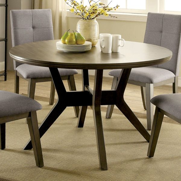 Mid Century Round Dining Rooms: Furniture Of America Remi Mid-Century Modern Angular Grey