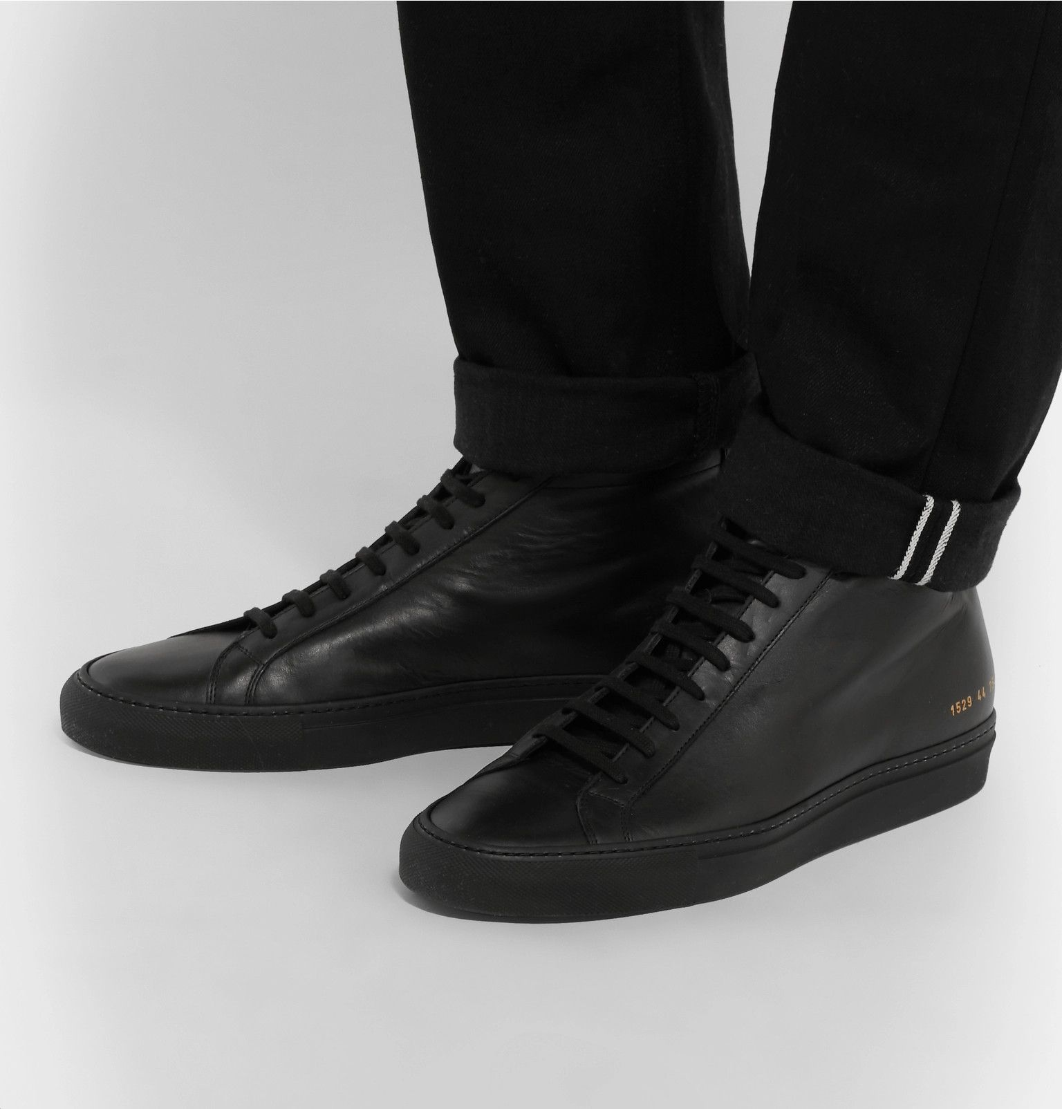 Leather high tops, High top sneakers