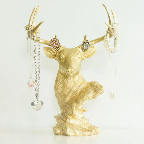 Deer Necklace Rack - Jewelry Display Holder by Wall Charmers™ Faux ...