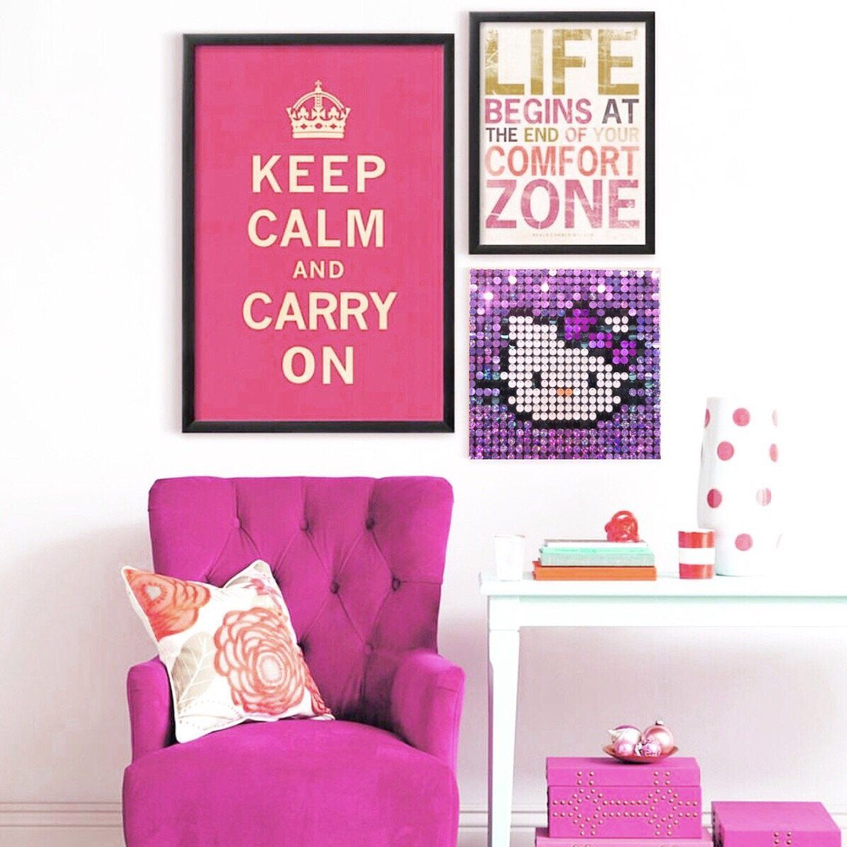 Hello Kitty Sequin Pixel Wall Art Pix Perfect Is A New