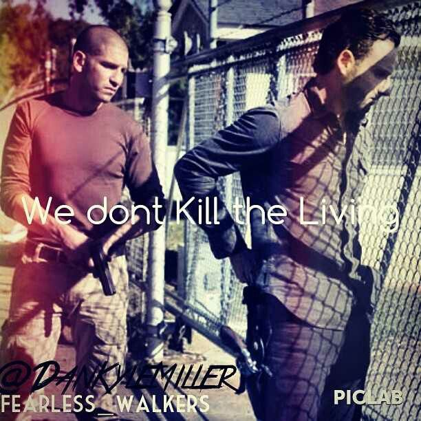 We don't kill the living......yet
