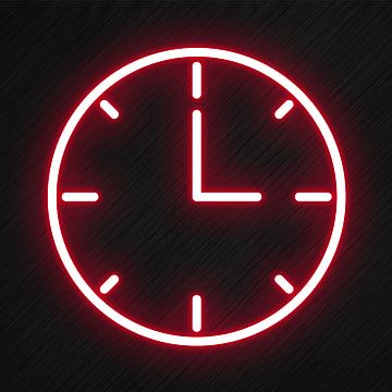 Clock Icon In Neon Style Clock Icons Style Icons Neon Icons Png Transparent Clipart Image And Psd File For Free Download In 2020 Clock Icon Light Icon Iphone Icon