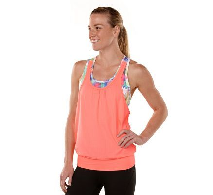 Womens R-Gear Hidden Agenda Chroma Printed Bra Tank Singlets Technical Tops at Road Runner Sports