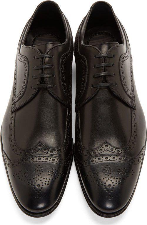 438eadba Derby · Zapatos De Moda Masculina · Dolce & Gabbana Black Leather Brogues  Clasicos, Calzas, Hombres, Ropa, Vestido Con