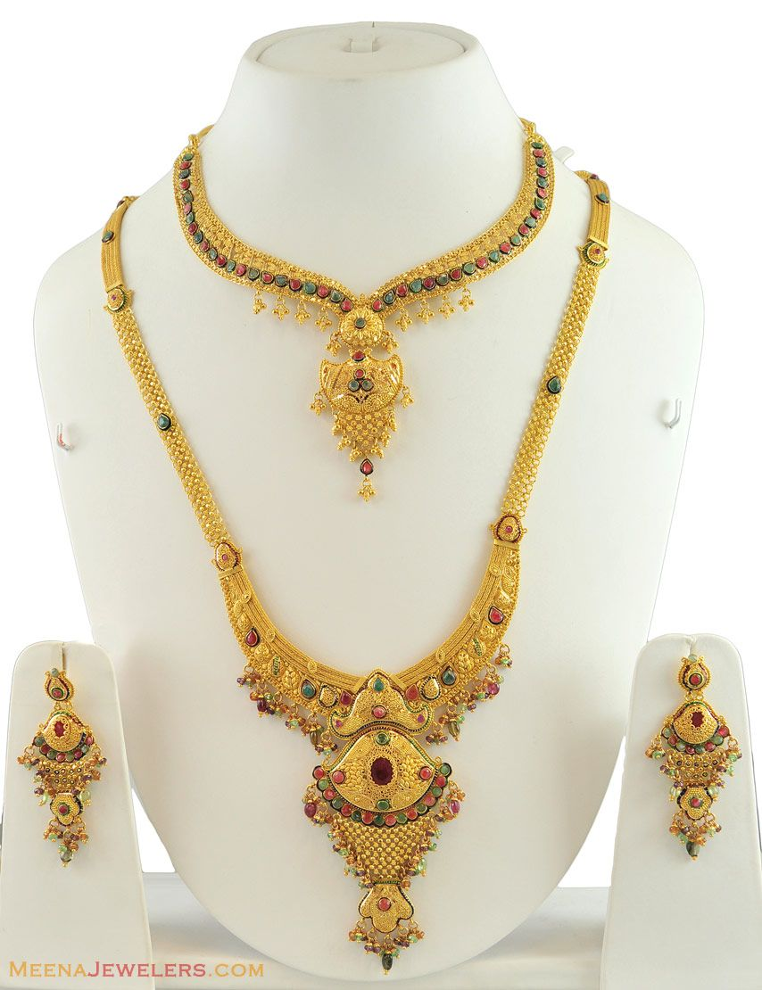 Bridal Necklace | Gold Jewellery | Pinterest | Bridal sets, Small ...