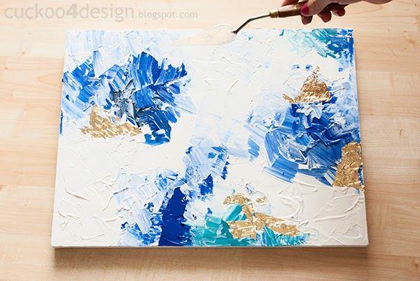 Idee Quadri Da Dipingere : Diy abstract artwork tutorial crafts pinterest astratto