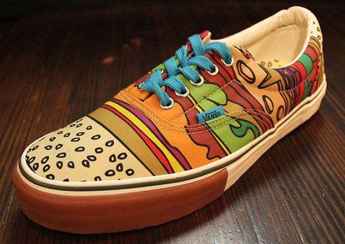 hamburger inspired Vans | Sneaker, Vans, Schuhe