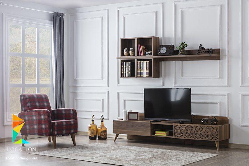 تصميم مكتبات مودرن افكار للتلفزيون المعلق على الحامل في الجدار 2019 Tv Wall Decor Living Furniture Furniture