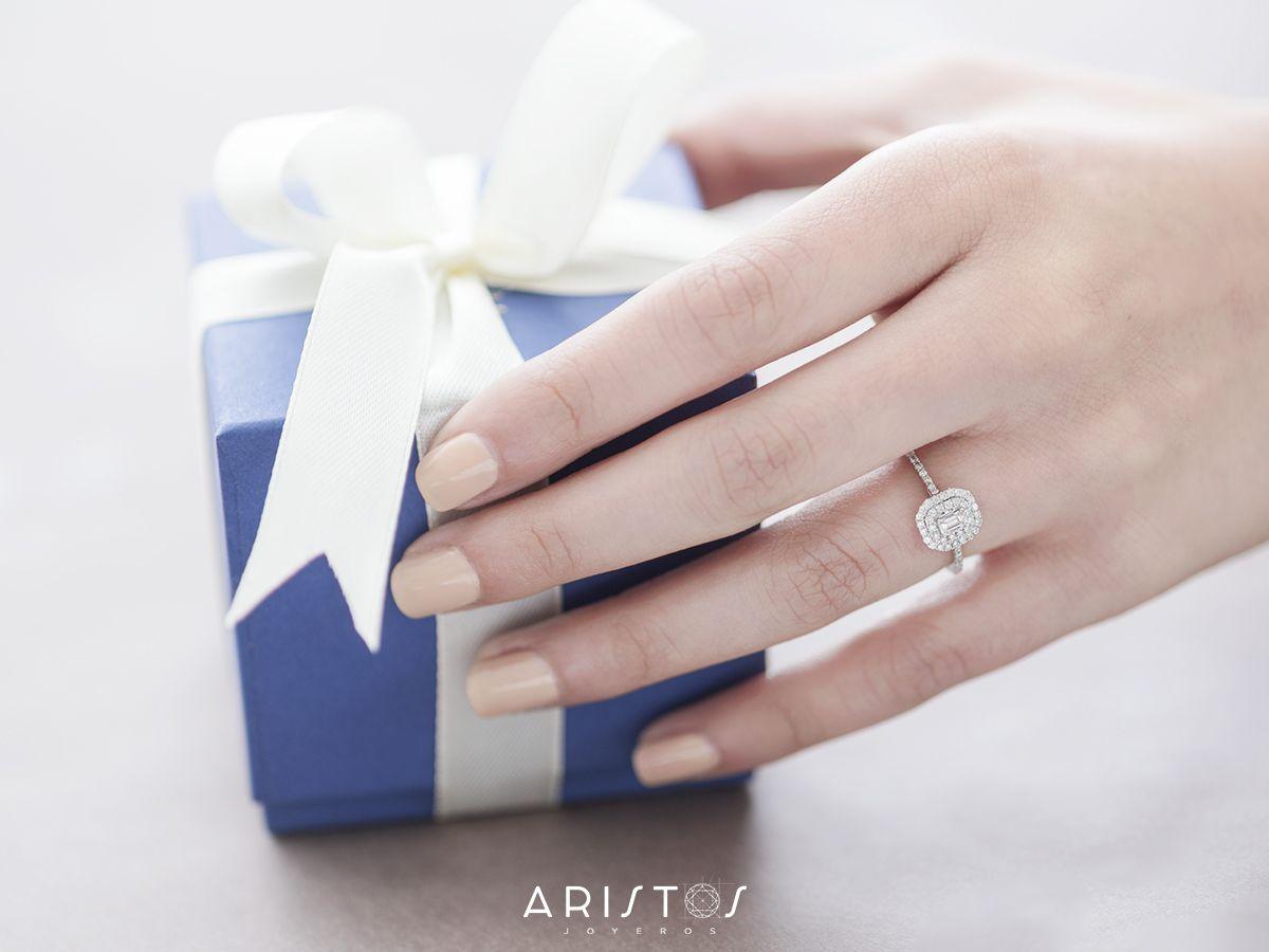 Doble Halo Setting Style Baguette Shape Diamond Ar The Center Just Wonderful White Gold Engagement Rings Gold Engagement Gold Engagement Rings