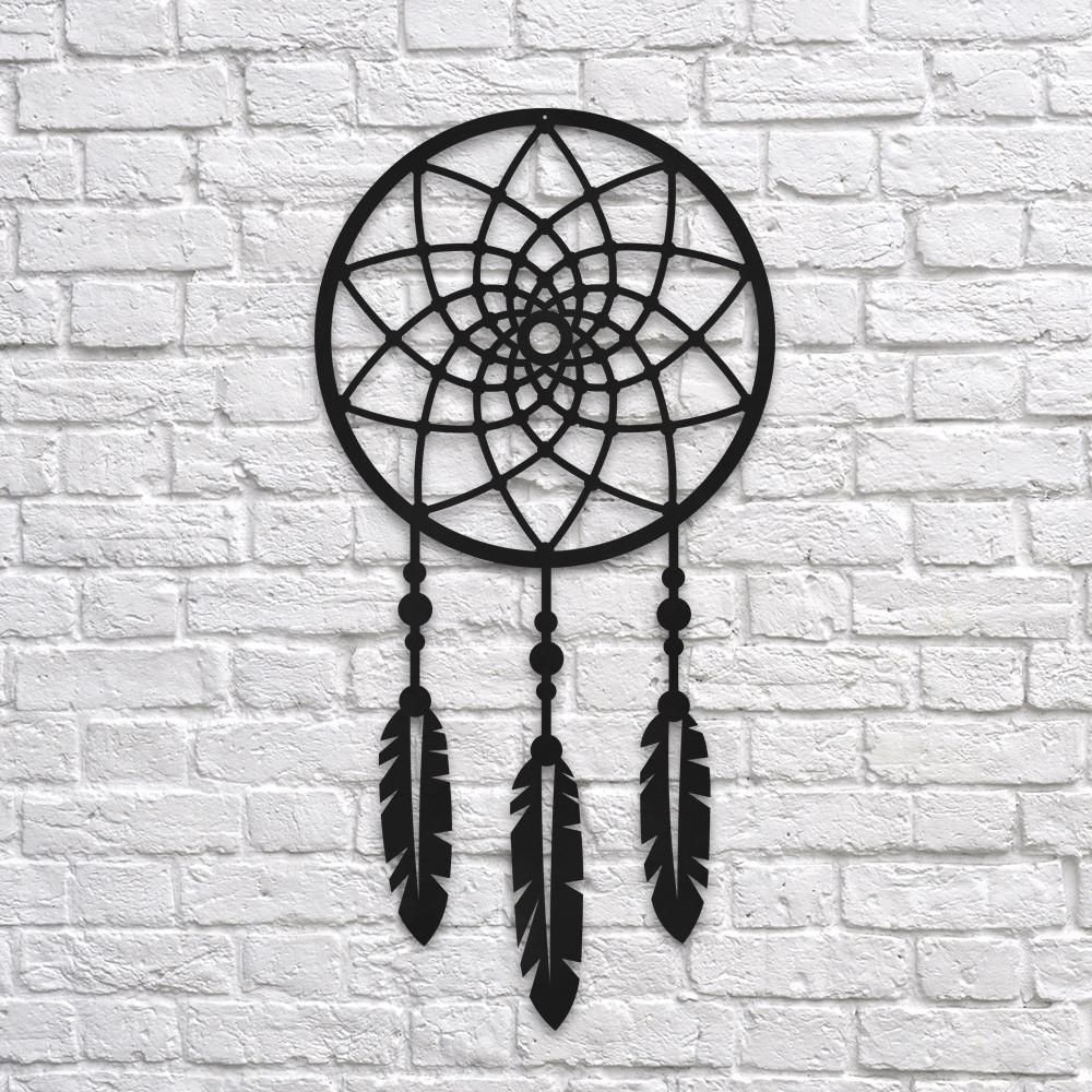 DreamCatcher  Metal Wall Decor is part of Wall art decor - Northshire  Metal Decor Dimensions 14in x 27in Material 2 mm steel Color Textured, Black Paint Packing Sturdy box suitable for transport and gift