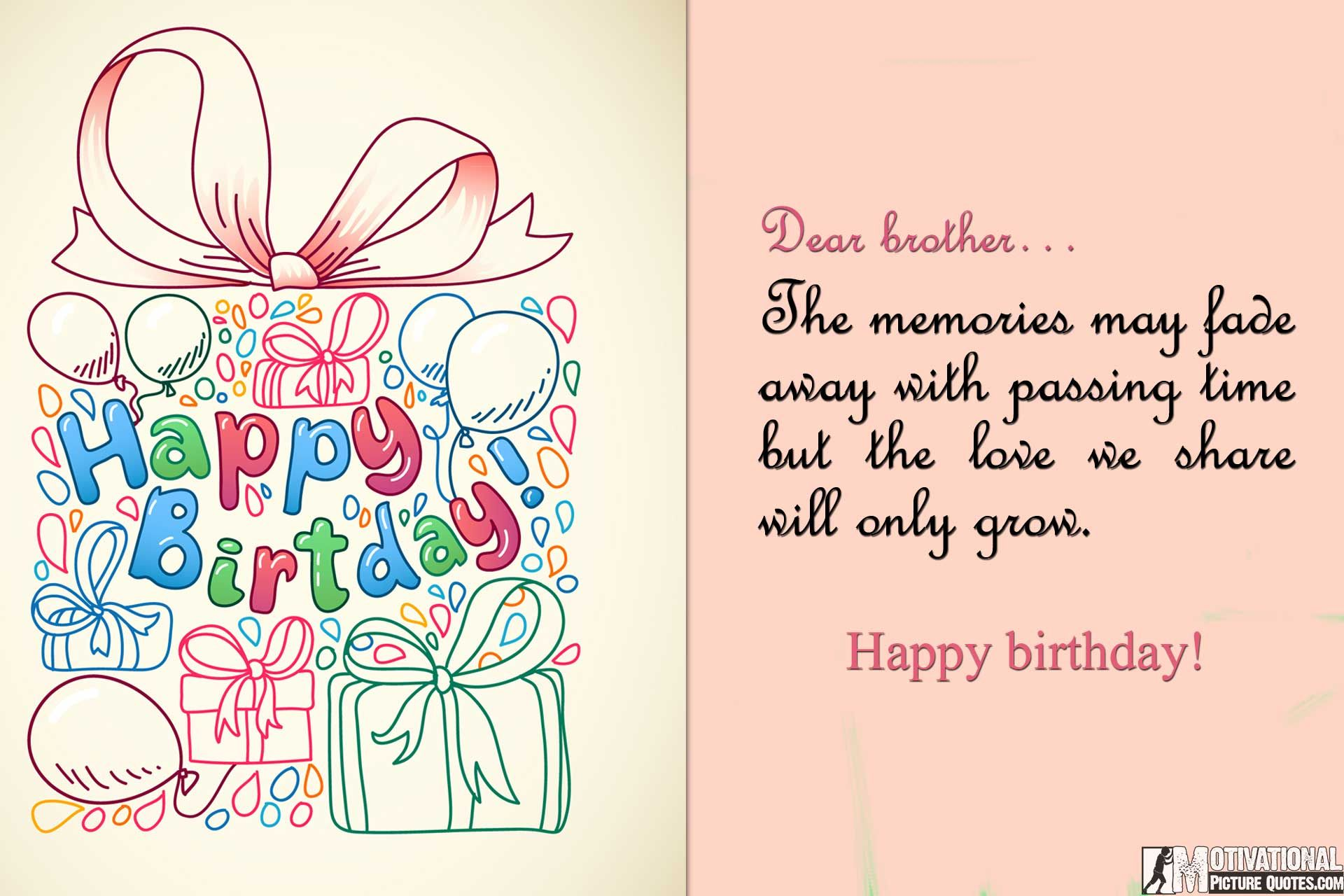 Birthday Quotes For Brother Birthday Wishes Quotes Images