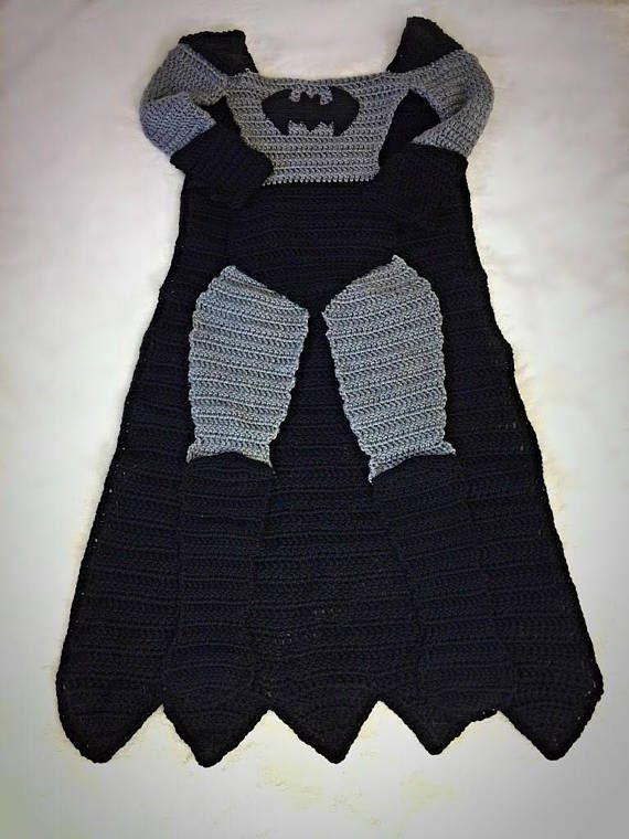 Batman and Superman Crochet Blanket PATTERNS | Hogar