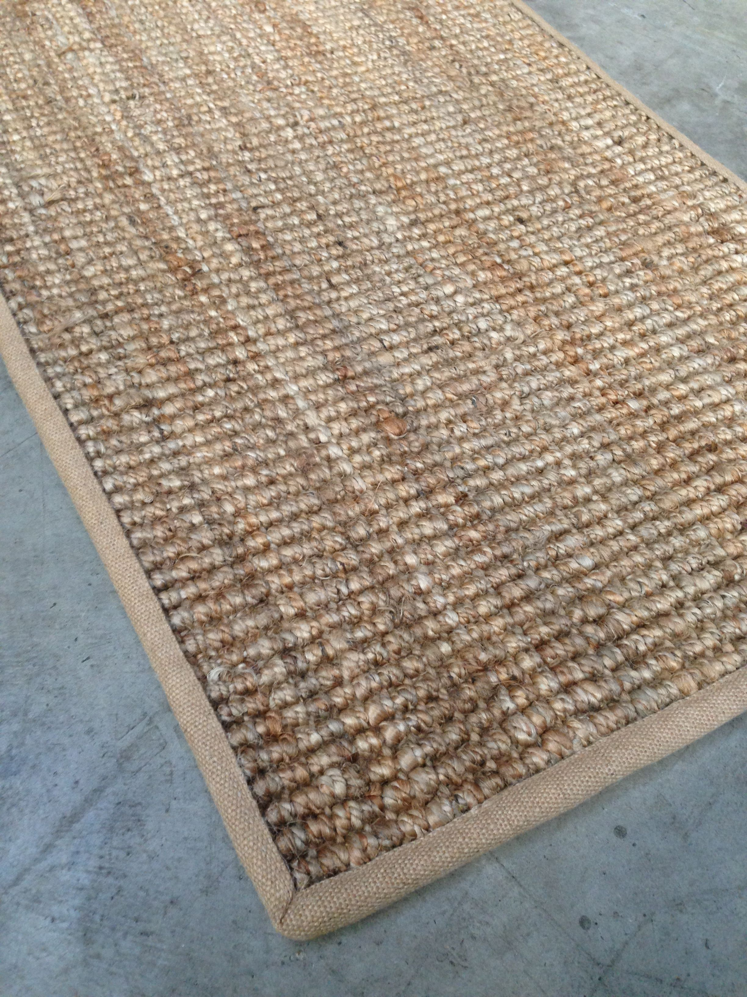 Natural Jute Rug With Hessian Border