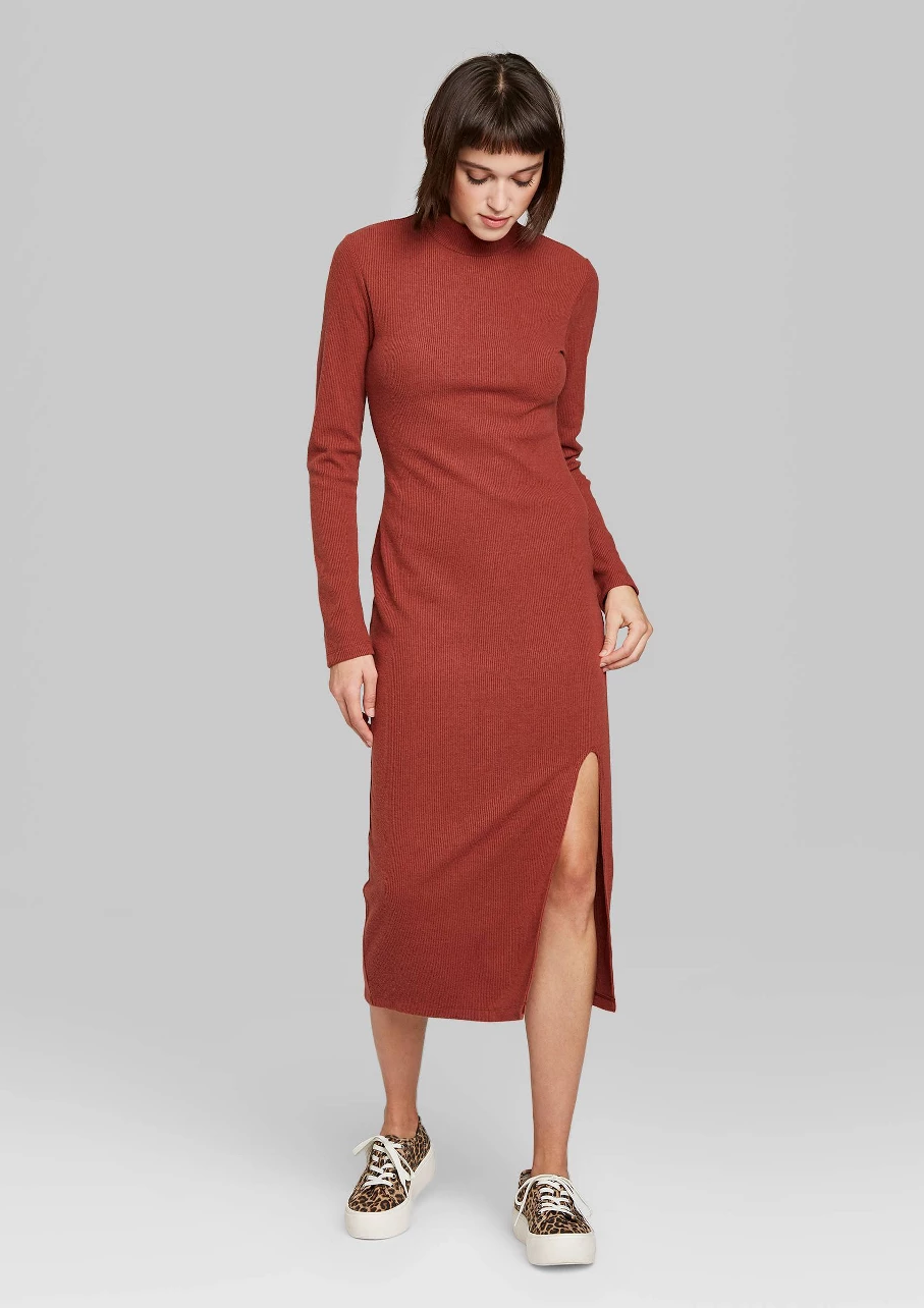 Target Fall Finds Part One Midi Dress With Cardigan Fall Dress Outfit Winter Dress Outfits [ 1600 x 1200 Pixel ]