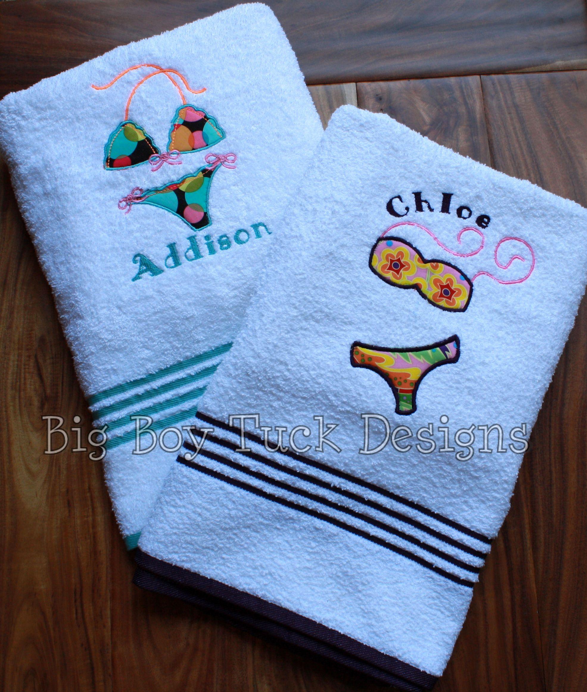 Beach Towels with Addison & Chloe Bikinis