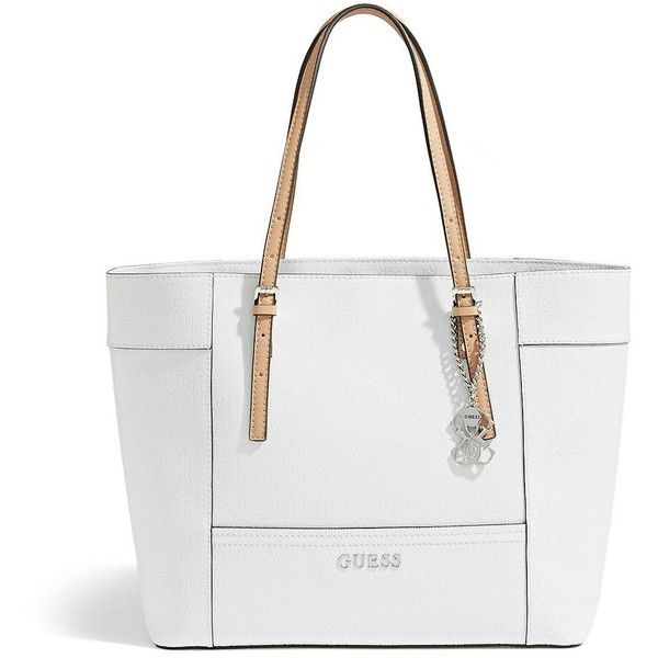 GUESS Women's Delaney Medium Classic Tote Tote Bag white