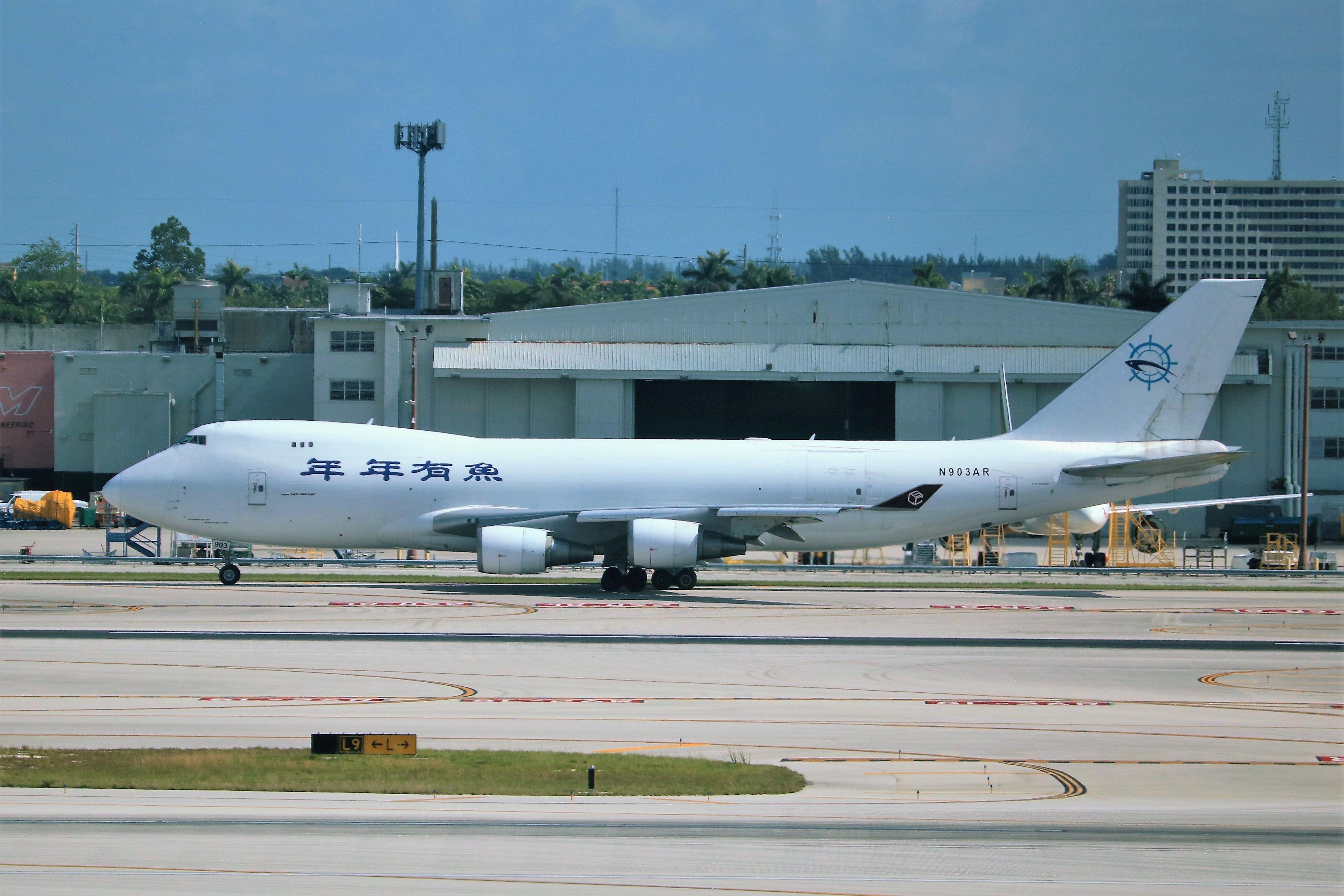 SkyLease Cargo 747 Boeing aircraft, Air france, Cargo