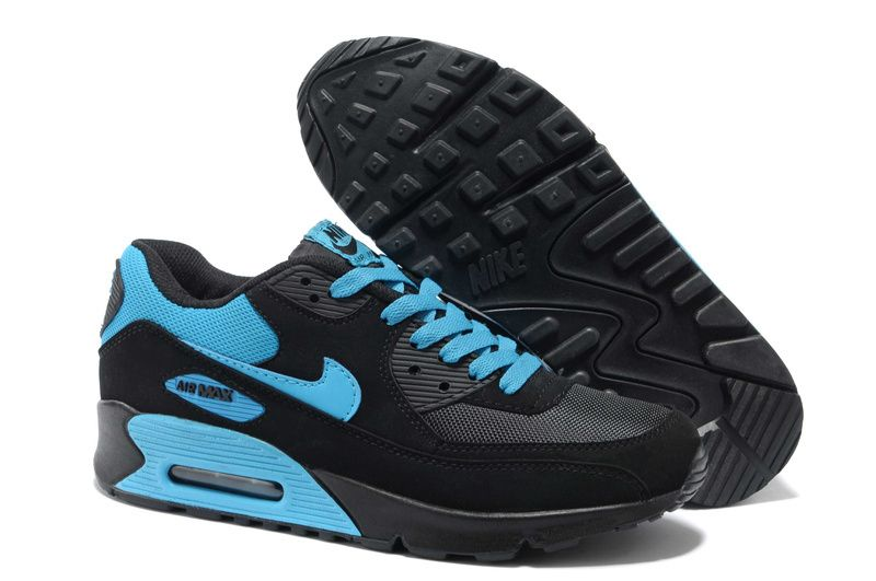 huge selection of bc5d0 1891b Nike Air Max 90 Mens Black Chlorine Blue 325018 118