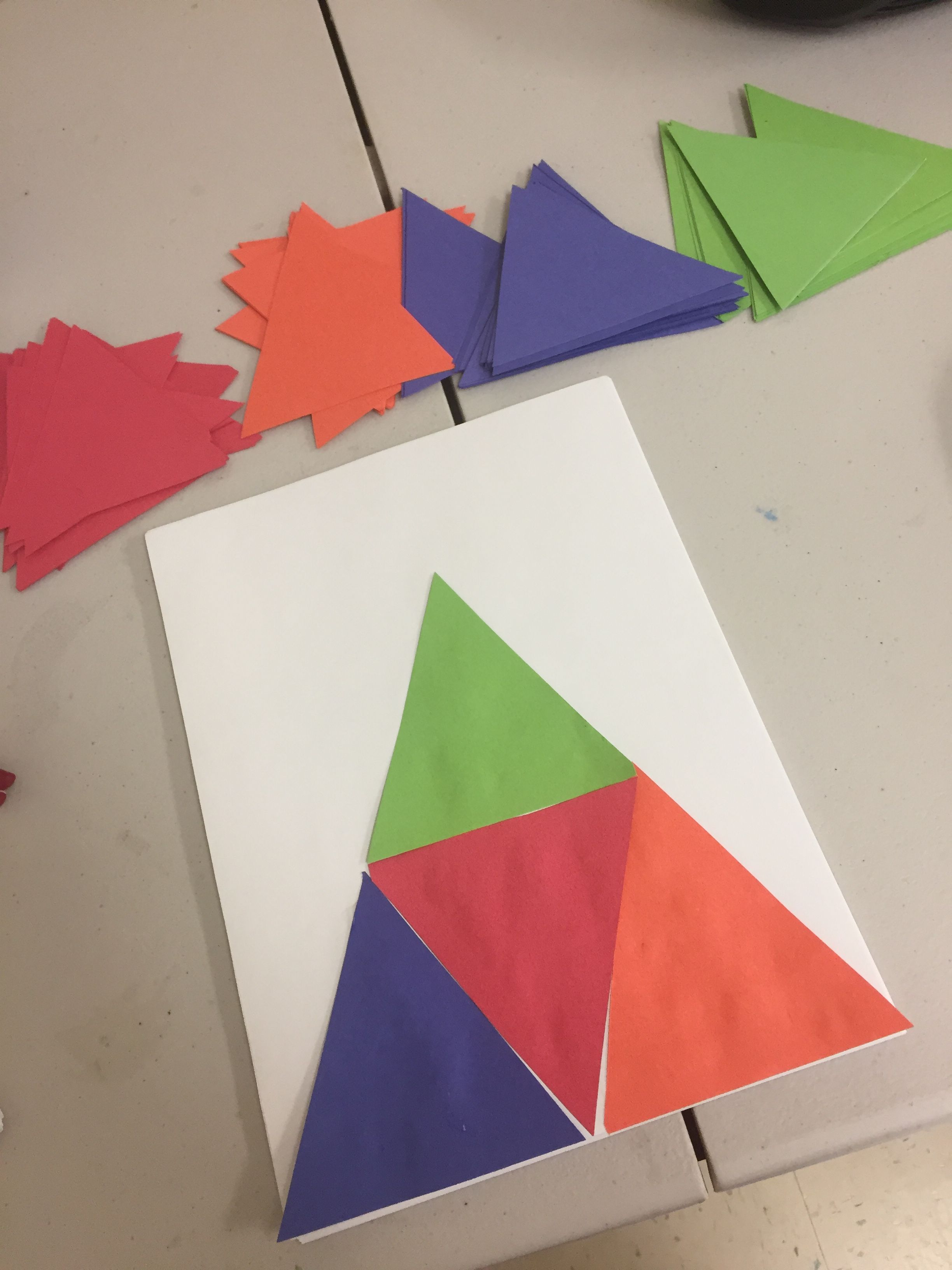 Four Triangles Make A Triangle Preschool Activity