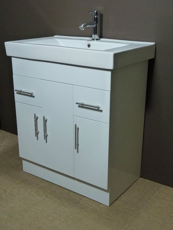 Mm GLOSS WHITE VANITY UNIT Free Tap And Pop Up Waste Bathroom - Popup with bathroom