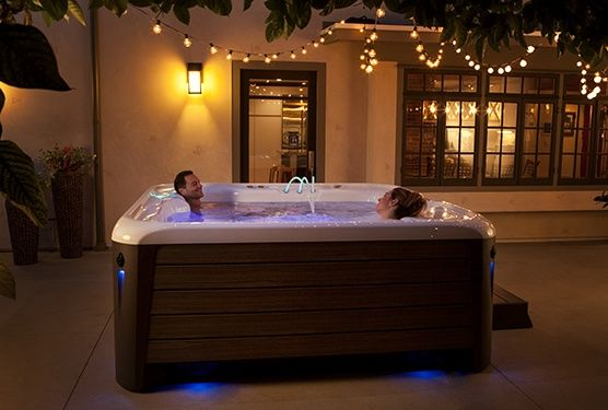 How Much Does A Hot Tub Cost Hot Spring Spas Hot Tub Swim Spa Spa Pool