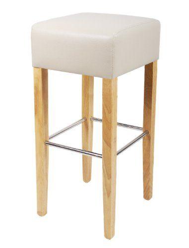 tabouret de bar bois de h tre massif cr me bar 02 bc 15. Black Bedroom Furniture Sets. Home Design Ideas