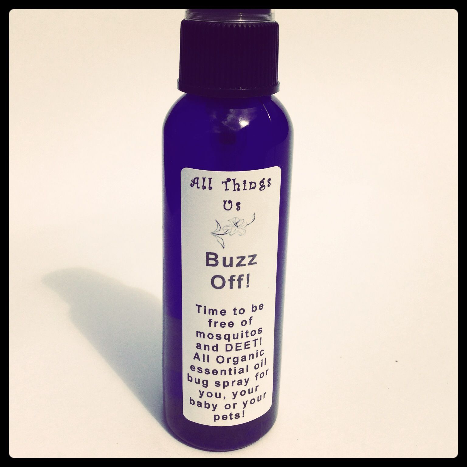 Buzz Off! Mosquito & Bug Repellant Organic Essential Oil Blend All Natural I've tried this it works great and smells awesome! Definitely my choice now im stocked up with it lol