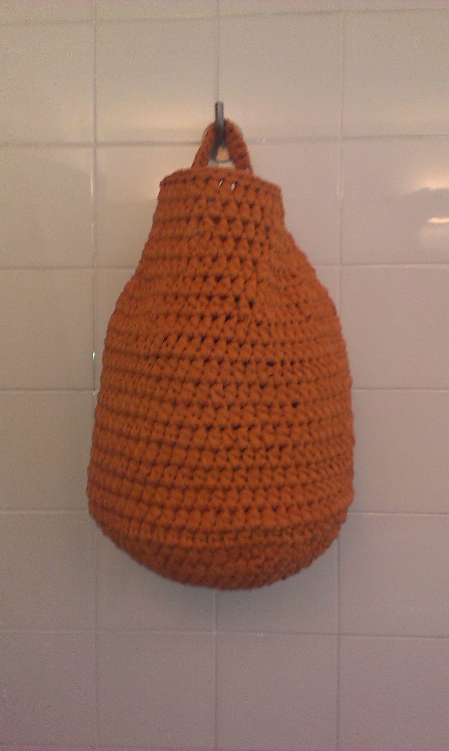 cesta para la ropa sucia de trapillo | Trapillo | Pinterest | Cesta ...