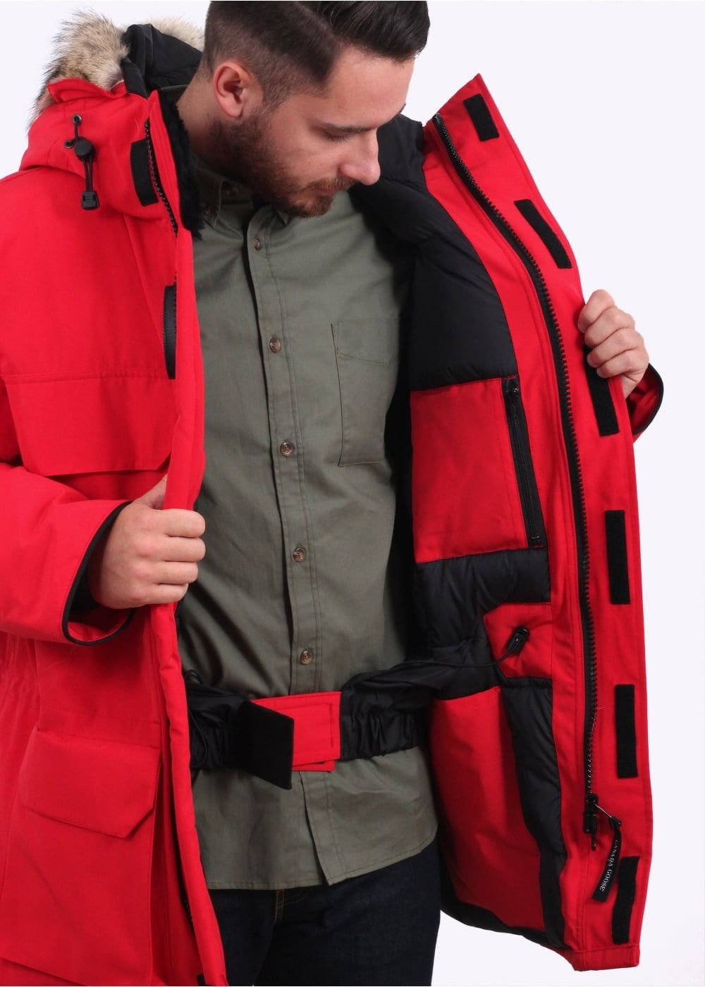 Buy Canada Goose by Expedition Parka - Red from our Triads Mens range - Red - @ Triads Redesign